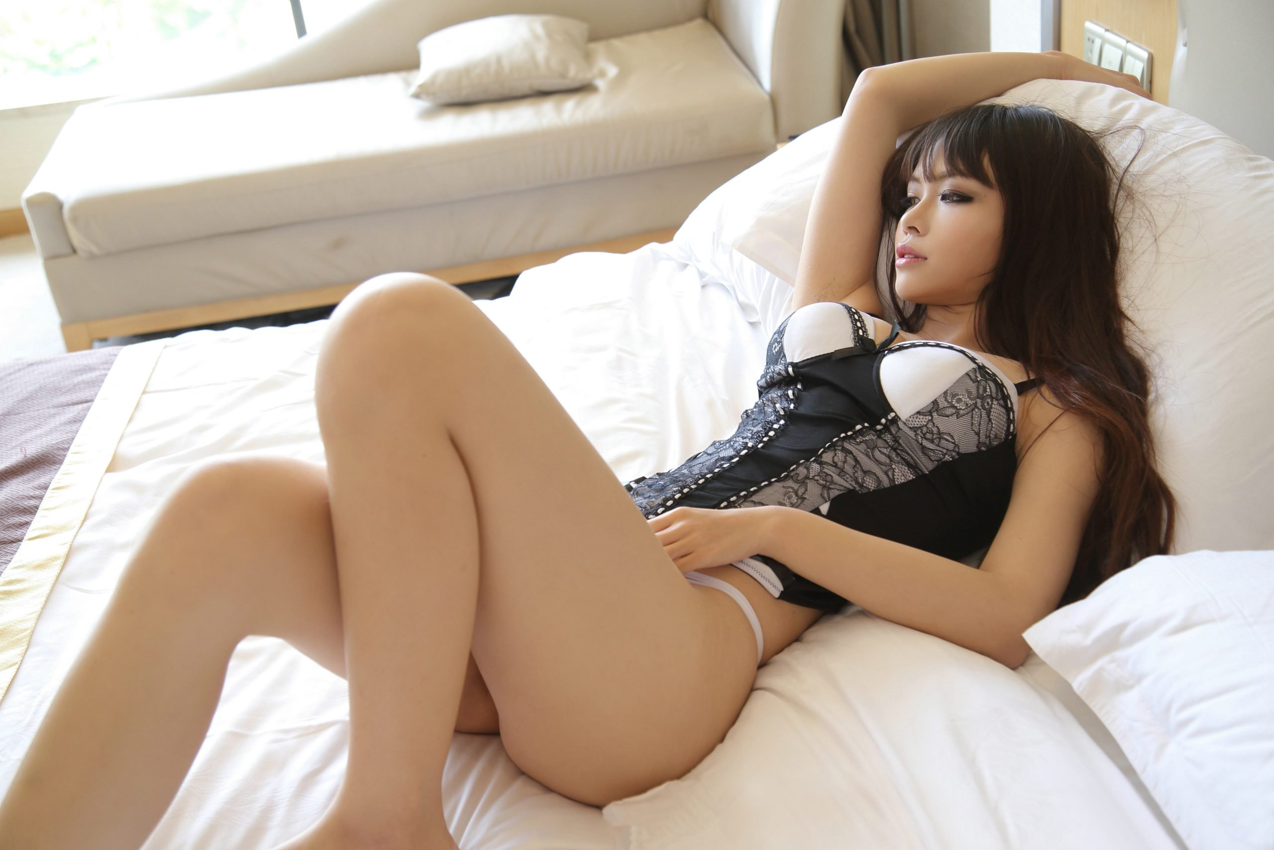 Beautiful,Asian,Sexy,Underware,Girl,Model